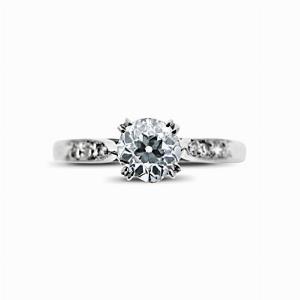 Old Cut Diamond Vintage Engagement Ring 0.52ct